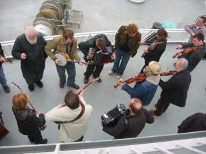 ShetlandFolk Festival 2005 - boat farewell