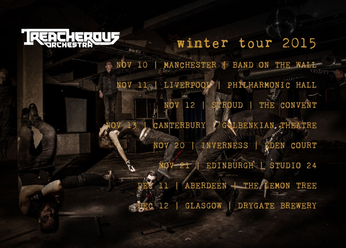Treacherous Orchestra Nov-Dec 2015 tour